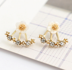 Flower Stud Earrings Double Sided