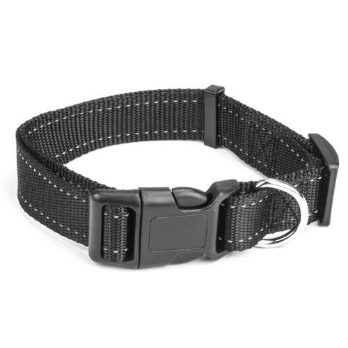 Large Black Adjustable Reflective Collar