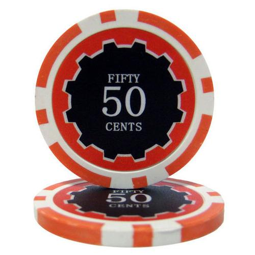 Eclipse 14 Gram Poker Chips - .50¢ (cent)