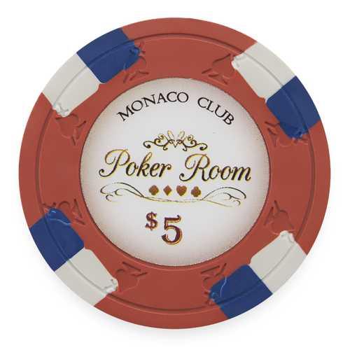 Monaco Club 13.5 Gram, $5, Roll of 25