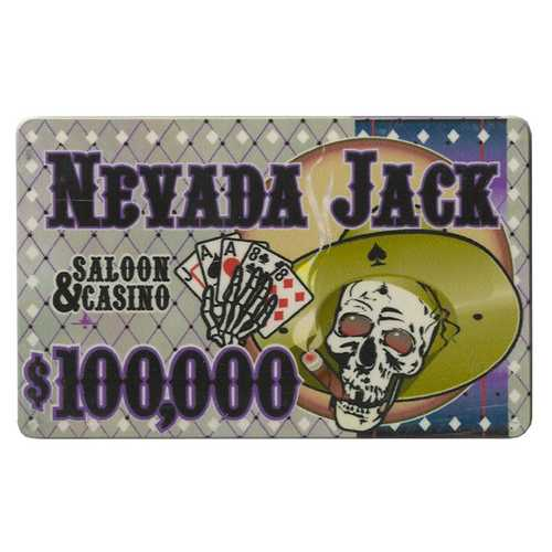 $100,000 Nevada Jack 40 Gram Ceramic Poker Plaque