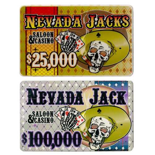 5 of Each Nevada Jack 40 Gram Ceramic Poker Plaques