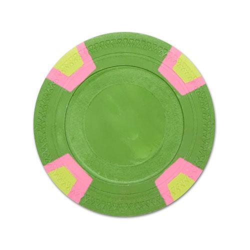 Green Blank Claysmith Double Trapezoid Poker Chip - 10g
