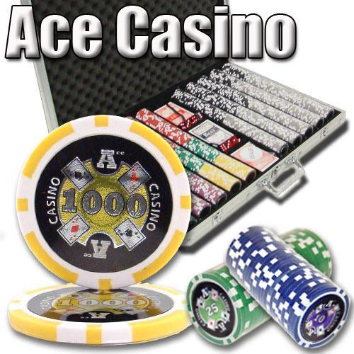 1,000 Ct - Pre-Packaged - Ace Casino 14 Gram - Aluminum