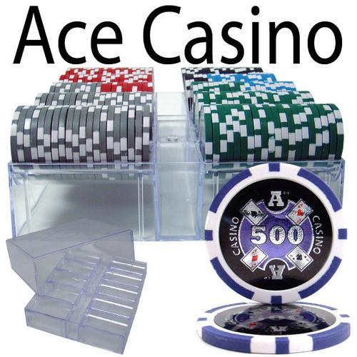 200 Ct - Pre-Packaged - Ace Casino 14 Gram - Acrylic Tray