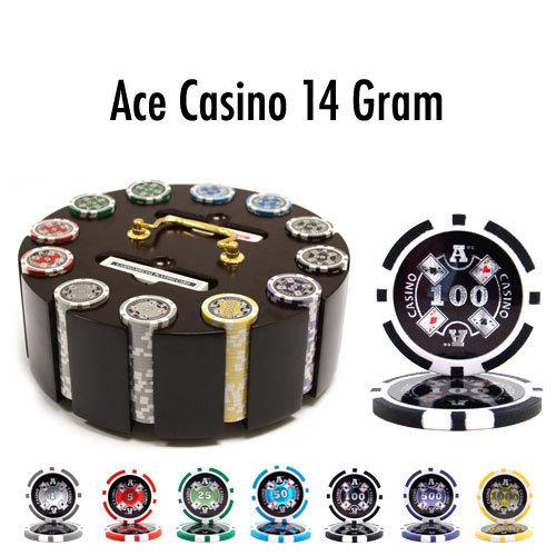 300 Ct - Pre-Packaged - Ace Casino 14 Gram - Wooden Carousel
