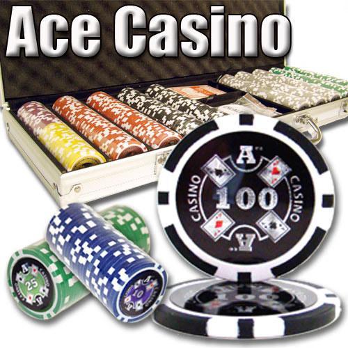 500 Ct - Pre-Packaged - Ace Casino 14 Gram - Aluminum