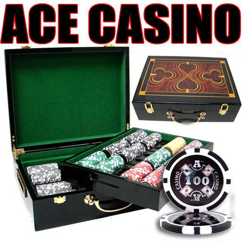 500 Ct - Pre-Packaged - Ace Casino 14 Gram - Hi Gloss