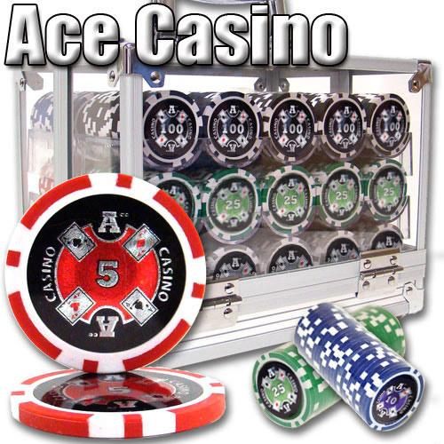 600 Ct - Pre-Packaged - Ace Casino 14 Gram - Acrylic