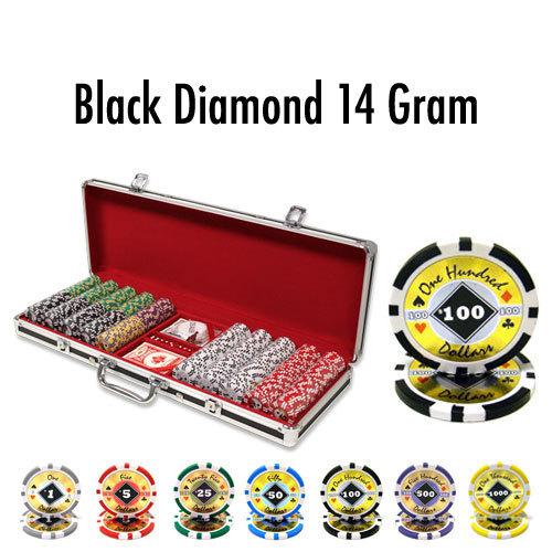 500 Ct - Pre-Packaged - Black Diamond 14 G - Black Aluminum