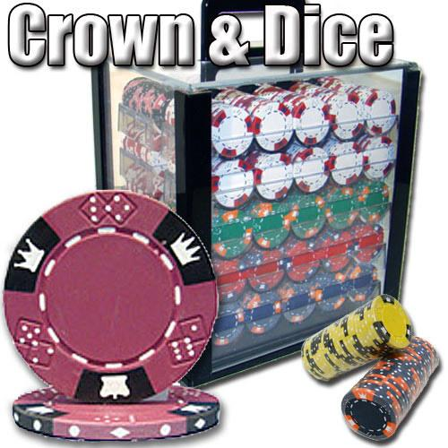1,000 Ct - Pre-Packaged - Crown & Dice - Acrylic