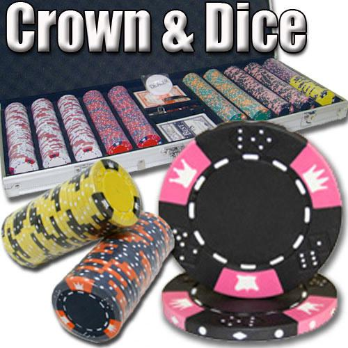 500 Ct - Pre-Packaged - Crown & Dice 14 G - Aluminum
