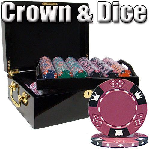 500 Ct - Pre-Packaged - Crown & Dice 14g - Black Mahogany