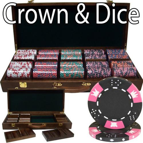 500 Ct - Pre-Packaged - Crown & Dice 14g - Walnut Case