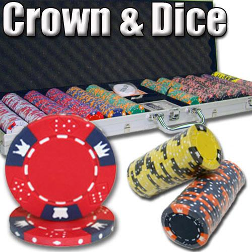 600 Ct - Pre-Packaged - Crown & Dice 14 G - Aluminum