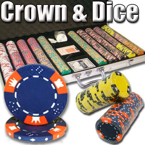 750 Ct - Pre-Packaged - Crown & Dice 14 G - Aluminum