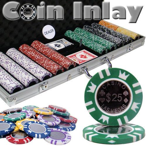500 Ct Aluminum Custom Packaged - Coin Inlay 15 Gram Chips