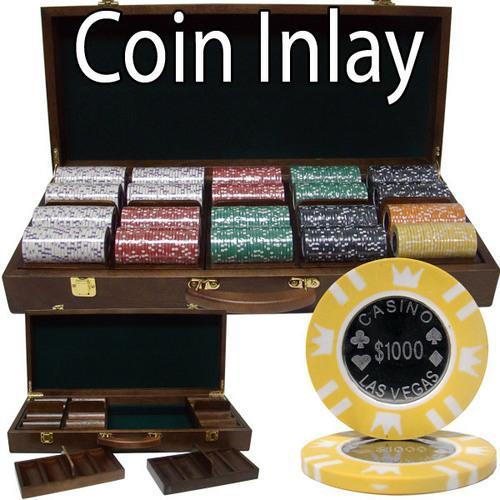 500 Ct Walnut Set Custom Pack - Coin Inlay 15 Gram Chips