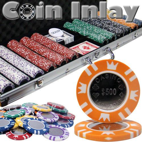 600 Ct Aluminum Custom Packaged - Coin Inlay 15 Gram Chips