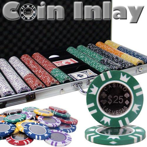 750 Ct Aluminum Custom Packaged - Coin Inlay 15 Gram Chips