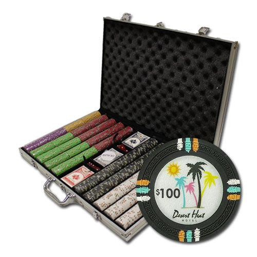 """1000Ct Custom Claysmith """"Desert Heat"""" Chip Set in Aluminum"""