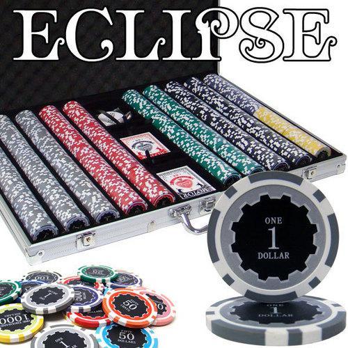 1,000 Ct Pre-Packaged Eclipse 14 Gram Chip Set - Aluminum