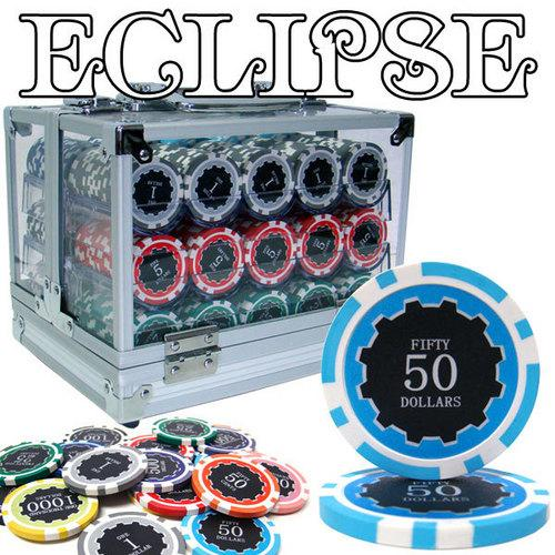 600 Ct Pre-Packaged Eclipse 14 Gram Chip Set - Acrylic
