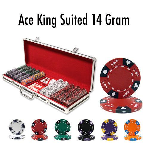 500 Ct - Pre-Packaged - King's Casino 14 G - Black Aluminum