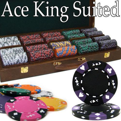 500 Ct - Pre-Packaged - Kings Casino 14 G - Walnut Case