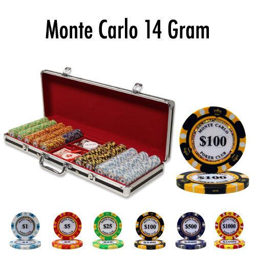 500 Ct - Pre-Packaged - Monte Carlo 14 G - Black Aluminum
