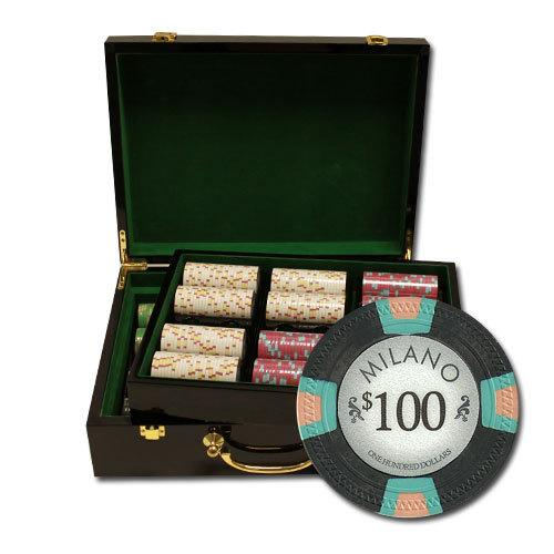 "500Ct Claysmith Gaming ""Milano"" Chip Set in Hi Gloss Case"
