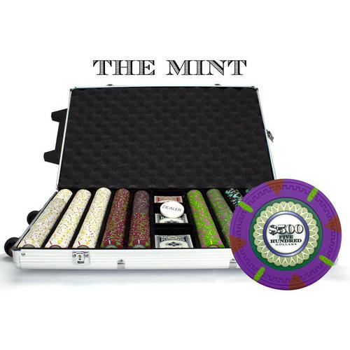 1000Ct Custom Claysmith 'The Mint' Chip Set in Rolling