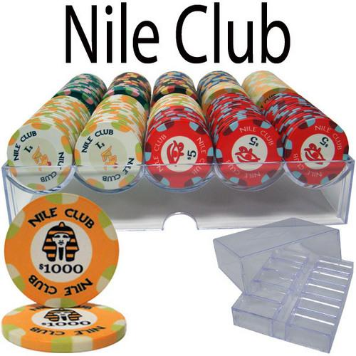 200 Ct Standard Nile Club Chip Set in Acrylic Tray