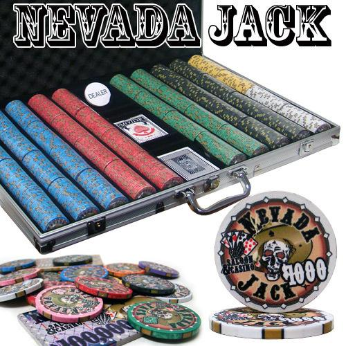 Pre-Packaged - 1000 Ct Nevada Jack 10 Gram Chip Set
