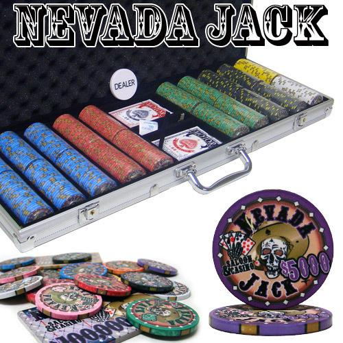 Pre-Packaged - 500 Ct Nevada Jack 10 Gram Chip Set