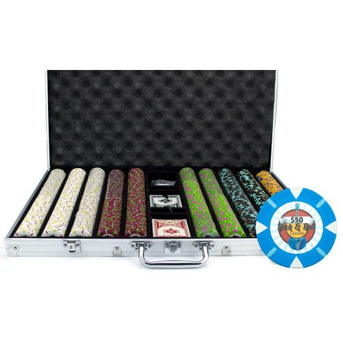1000Ct Claysmith Gaming 'Rock & Roll' Chip Set in Aluminum