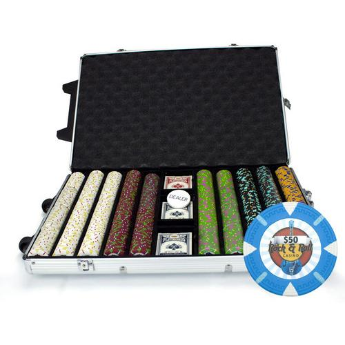 1000Ct Claysmith Gaming 'Rock & Roll' Chip Set in Rolling