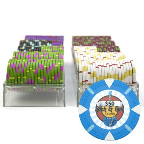 200Ct Claysmith Gaming 'Rock & Roll' Chip Set in Acrylic