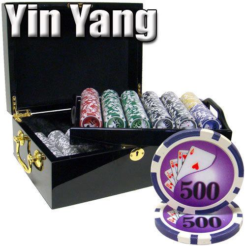 500 Ct - Pre-Packaged - Yin Yang 13.5 G - Black Mahogany