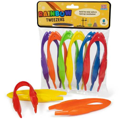 Rainbow Tweezers, 6-pack