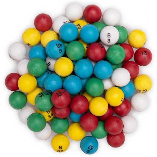 Multi-color 3/5-inch Bingo Balls