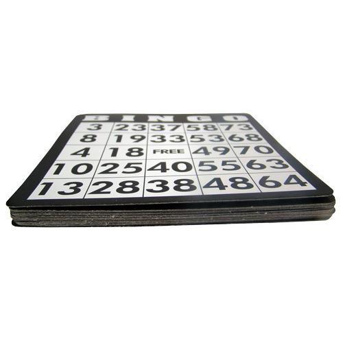 18 Pack of Black Bingo Cards