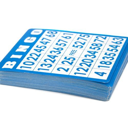 50 Pack of Blue Bingo Cards