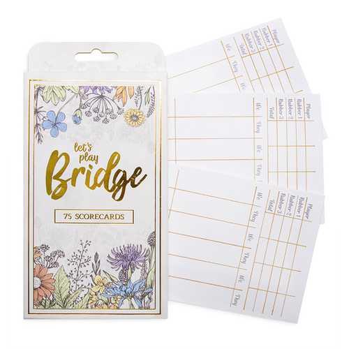Bridge Scorecards, 75-pack