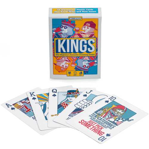 King's Drinking Game Plastic Playing Cards