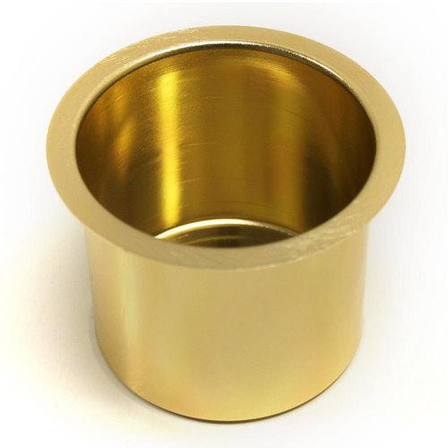 Vivid Gold Aluminum Drop In Cup Holder