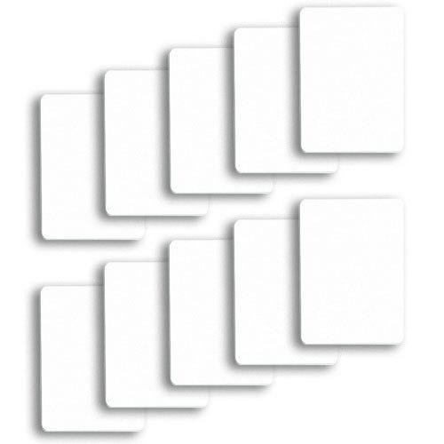 Set of 10 White Plastic Poker Size Cut Cards