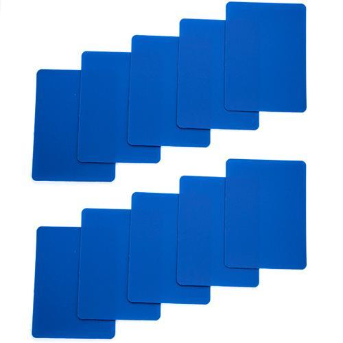Set of 10 Blue Plastic Poker Size Cut Cards