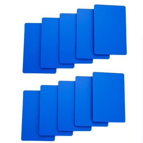Set of 10 Blue Plastic Bridge Size Cut Cards