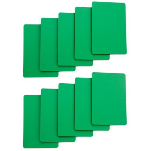 Set of 10 Green Plastic Bridge Size Cut Cards